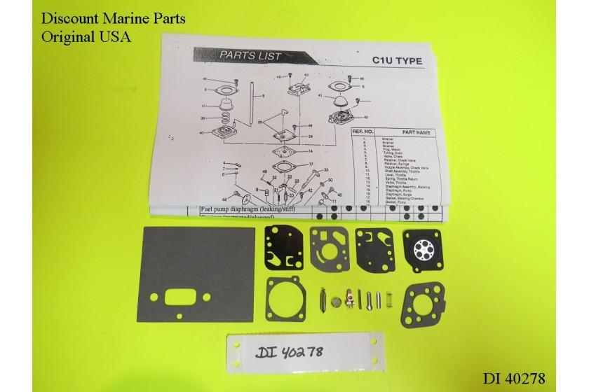 McCulloch Trimmer MAC2816 Carb Kit C1U-M29 C1U-M29A C1U-M29B C1U-M29C C1U-M29D E