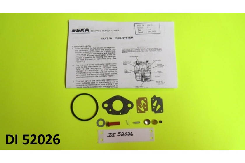 Carburetor Kit  For Eska Sears Ted Williams Tecumseh Outboard Motor 1961-1987
