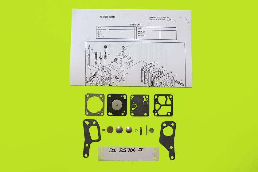 DI 25706J McCulloch Carburetor Kit